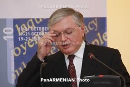 Armenian FM offers condolences on Pope Shenouda III's death