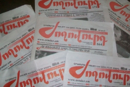 Voters chuck dirt during Armenian President - paper