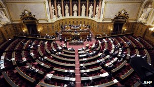 The French Senate votes on a genocide rejection bill, 23 January