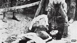 Boy plant of 1915 deportation of Armenians