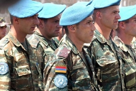Armenian peacekeepers leave for Kosovo