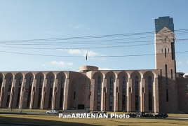 Burning automobile reported during Yerevan Municipality