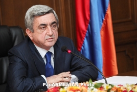 Armenian President extends condolences to Egyptian people