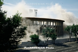 Yerevan playground architecture detonated