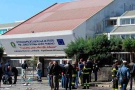2 suspects in Italian propagandize explosve conflict arrested