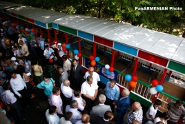 Reconstructed Children's Railway non-stop in Yerevan