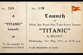 Titanic sheet auctioned for $56,250