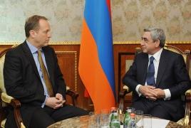 Armenian President meets effusive UK Ambassador